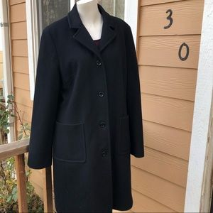 J. Crew Lg classic button down wool trench coat